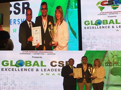 EcoKnights Bagged the 'Best NGO Leadership' Award at the World CSR Congress