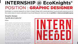 Opportunity as EcoKnights' Graphic Design Intern