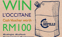 ECOKNIGHTS LAUNCHED ENVIRONMENTAL-THEMED CONTESTS IN COLLABORATION WITH L'OCCITANE MALAYSIA DURING THE ECO MONTH 2017