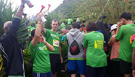 ECOKNIGHTS JOINED BOTTLED HOPE TRAIL RUN 2017 & LED TREE PLANTING ACTIVITY AT CAMERON HIGHLANDS