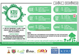 ECOKNGIHTS COLLABORATED WITH KDU UNIVERSITY FOR ENVIRONMENT DAY 2017