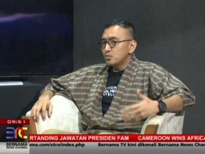 Fadly Bakhtiar is on BERNAMA today