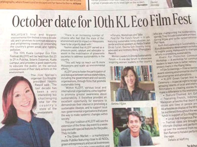 In The News - KLEFF in News Straits Times