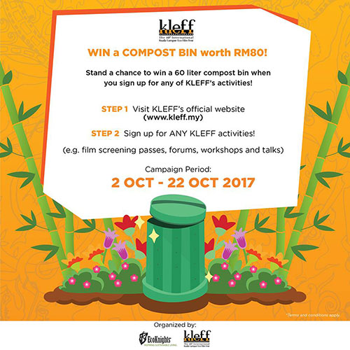 Sign Up for A KLEFF Activity and Stand A Chance To Win A Compost Bin