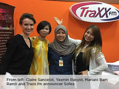 Traxx FM Interview with Yasmin Rasyid, Claire Sancelot and Mariani Bam Ramli