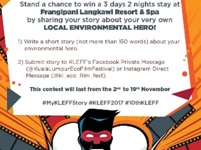 The 10th KLEFF Launched Environment-themed Social Media Campaigns in collaboration with MBO Cinemas, EcoKnights, Guardian Malaysia and The Frangipani Langkawi Resort & Spa