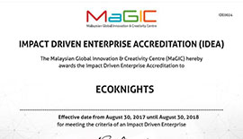 EcoKnights officially accredited as an impact-driven organization by MAGIC.