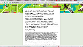 EcoKnights' Survey on The Level of Awareness of Malaysians regarding the Mining Industry in Malaysia.