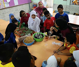 School Holiday Gardening Workshop for 120 Students
