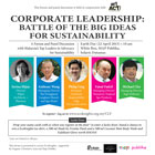 Corporate Leadership: The Battle of the Big Ideas on Sustainability