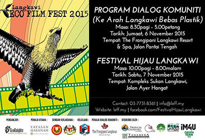 The 2nd Langkawi Eco Film Festival and Community Dialogue, 6-7 November 2015
